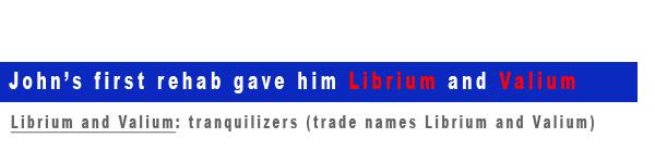 Librium Valium Prescribed by Rehab