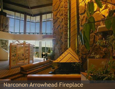 Narconon Arrowhead fireplace