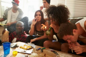 group of youth smoking marijuana