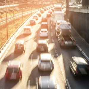 blurred vision of driving with hangover