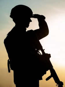 sillouette of a soldier