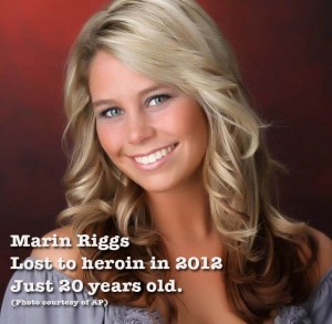 Marin Riggs died of heroin overdose