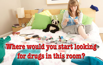 where would you find drugs in this room