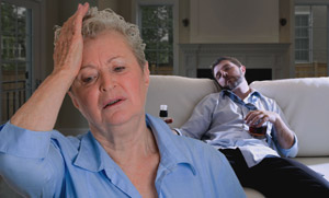 mom worried about son
