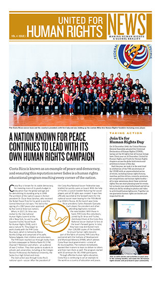 United for Human Rights – Newsletter 4. Jahrgang, Ausgabe 1