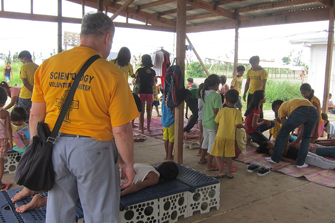 Volunteer Ministers have provided aid after six typhoons in the Philippines since July 2014.