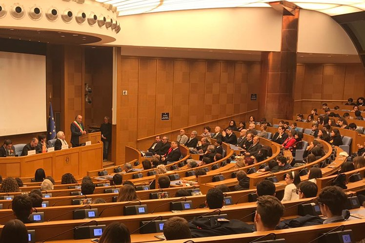 Youth for Human Rights conference in the Parliament of the Republic of Italy for the 70th-anniversary of the Universal Declaration of Human Rights