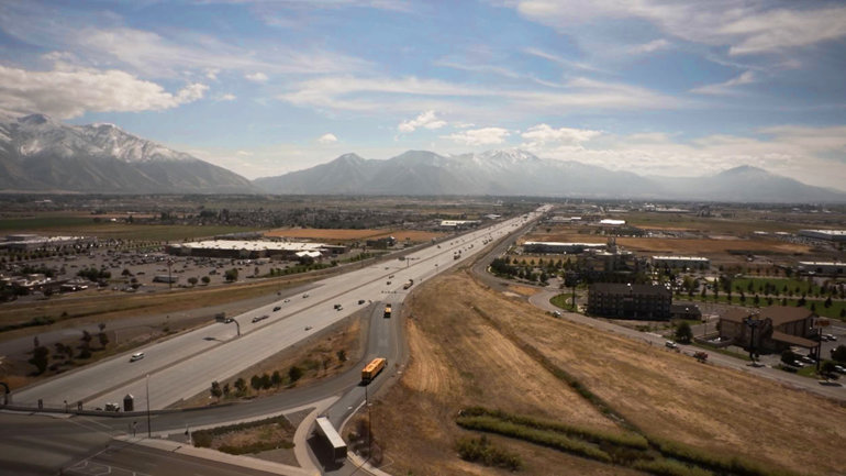 The convoy heads out to Texas from Salt Lake City.