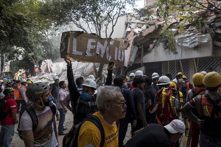 Scientology Volunteer Ministers are providing support for Los Topos and other rescue workers in the wake of the 7.1magnitude earthquake. More help is urgently needed. Photo by Adriana Zehbrauskas for The New York Times