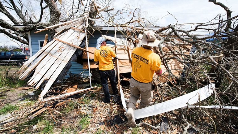 Scientology Volunteer Ministers have been working in Rockport since August to help the community recover