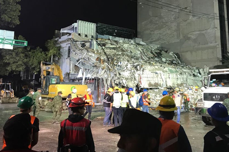 La Condesa, where Los Topos is searching for survivors of the 19 September earthquake