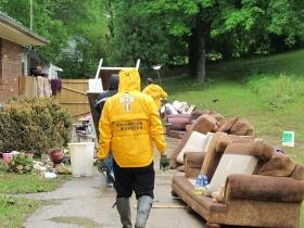 ナッシュビルでの清掃作業。