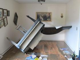 ナッシュビルでの洪水による被害。