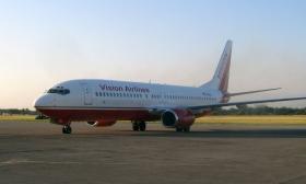 En af de charterfly, der bragte professionelt lægepersonale og Scientologi Frivillige Hjælpere til Haiti, arrangeret af Joava Good
