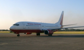 L'un des vols charters qui a assuré le transport de professionnels médicaux et de ministres volontaires de Scientology à Haïti; organisé par Joava Good