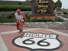Ultramarathon man John Radich is living out his 40-year dream along Route 66.