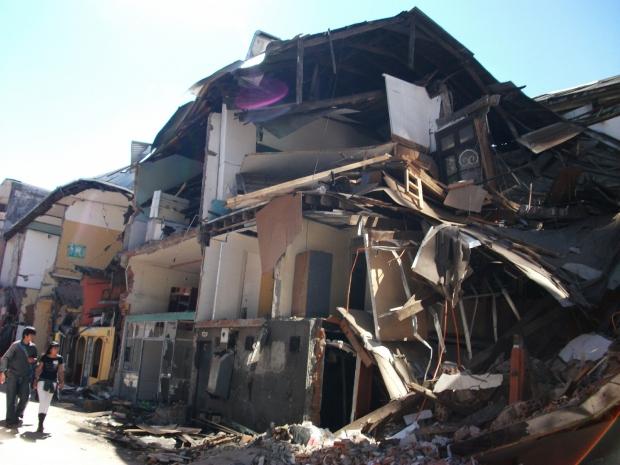 Торговая часть города Консепсьон, март 2010года.