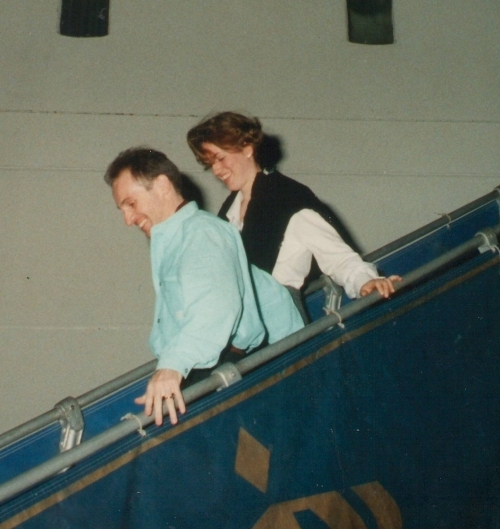 Valeska Paris with husband in May 1998