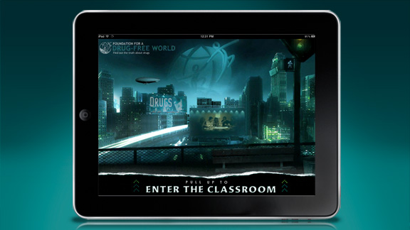 En fullt interaktiv klassrumsmiljö skapad för att möjliggöra flera undervisningsmiljöer, och som ger verktyg till både lärare och elev.