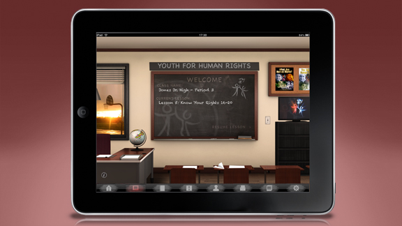 En fullt interaktiv klassrumsmiljö skapad för att underlätta flera undervisningsmiljöer, och som ger verktyg till både lärare och elev.
