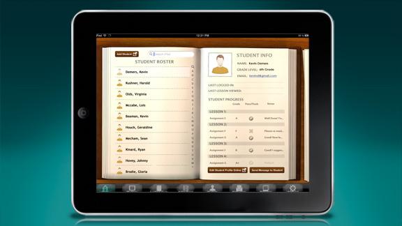「生徒の名簿」もあり、それを使用して生徒を個々に管理したり、進み具合をチェックしたり、採点したりすることができます。
