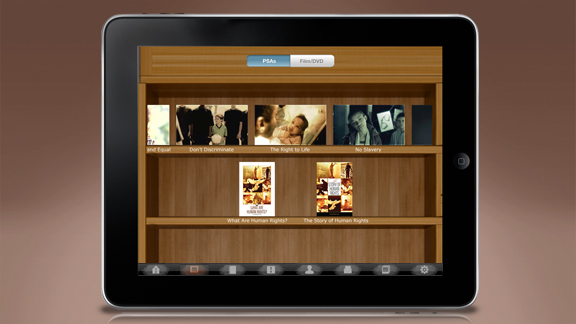 ユナイテッド・フォー・ヒューマン・ライツの教育ビデオ、小冊子、教材はすべてこのアプリケーションからダウンロードできます。これらはレッスンと連動しており、必要に応じてそのつど閲覧できるようになっています。