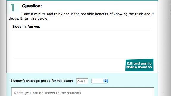 また、生徒のレッスンを採点する機能も用意されており、それを使って各ステップを採点し、コメントを付けることもできます。