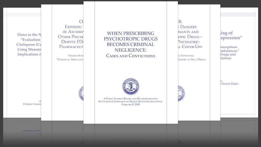 Hojas informativas oficiales, informes sobre Psiquiatría y Fármacos
