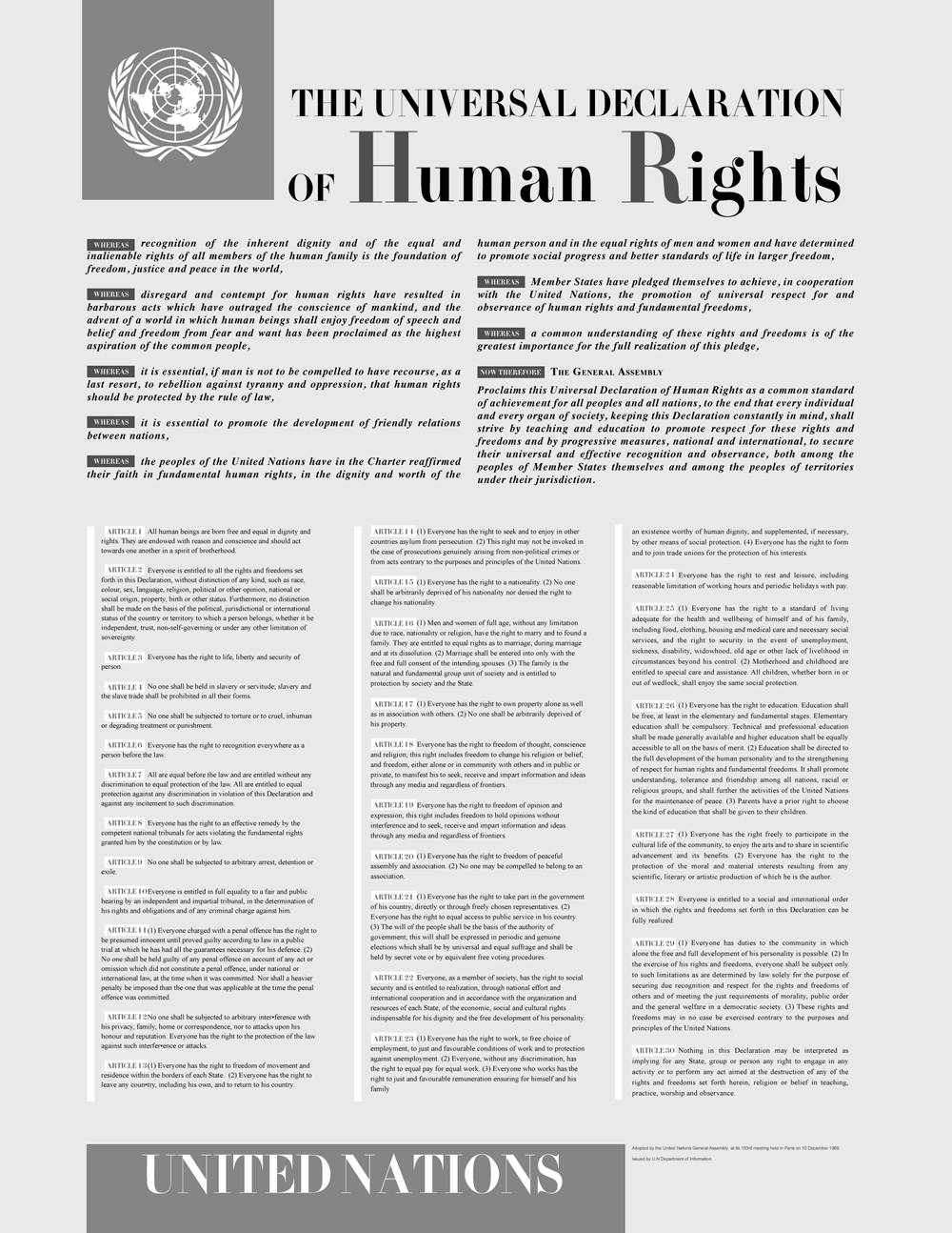 United Nations, Universal Declaration of Human Rights, History ...