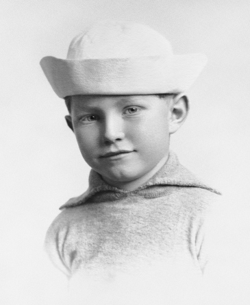 L. Ron Hubbard, child.