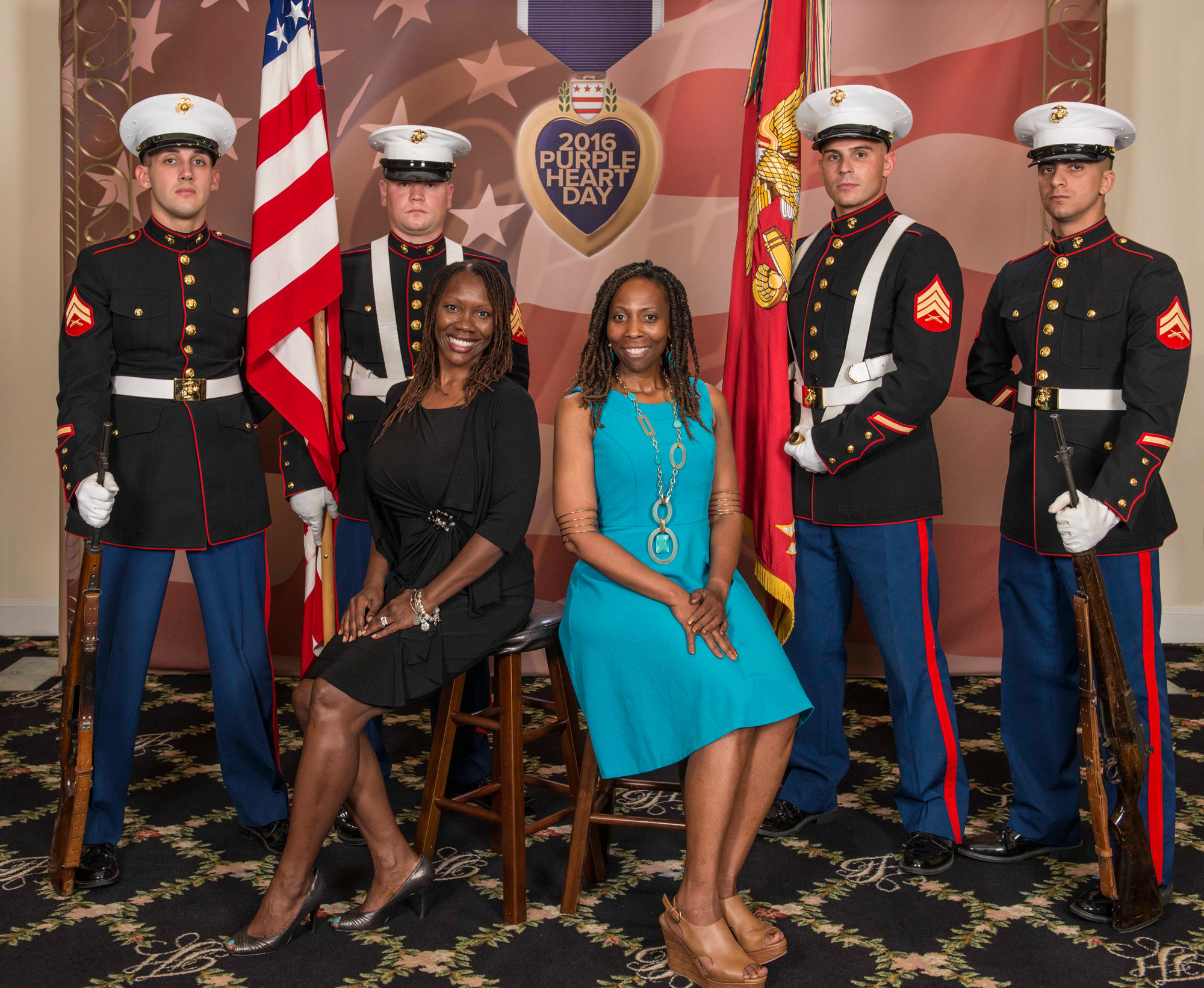 Marine Color Guard presents the colors at the Church of Scientology's Fort Harrison Auditorium in honor of Purple Heart Day