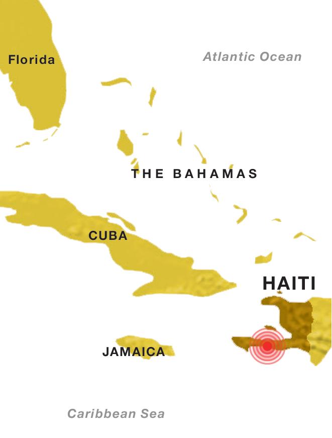 Haiti earthquake map.