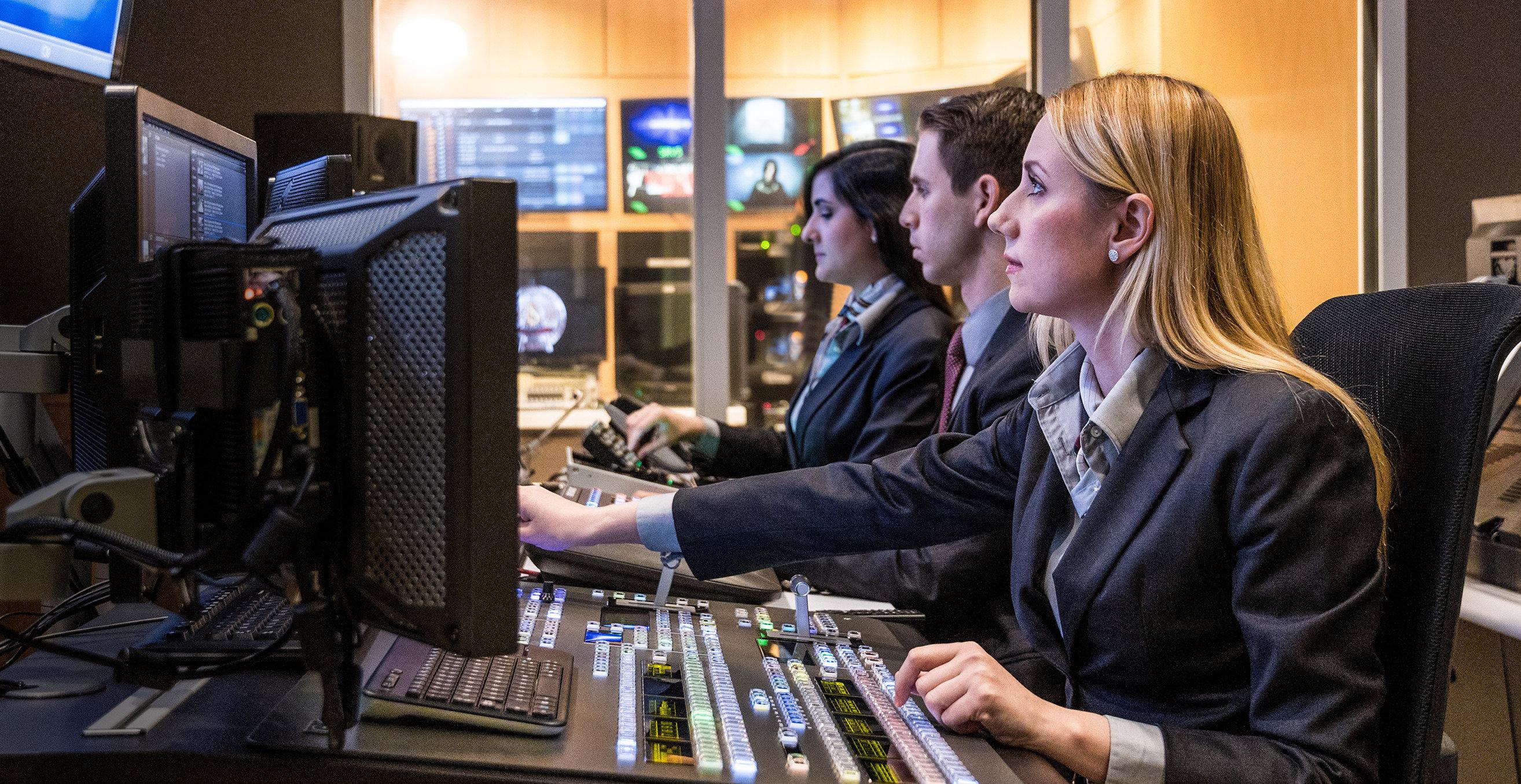 Scientology Media Productions TV control rooms