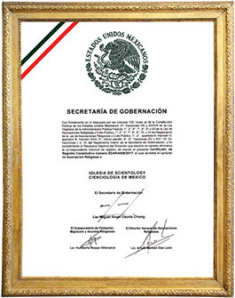 AScientology elismerése Mexikóban