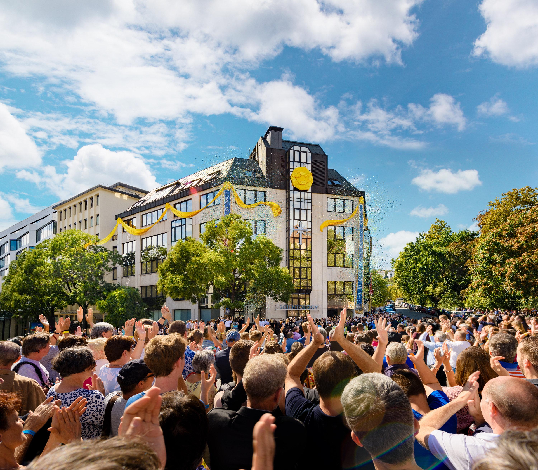 Traditionsenligt forsta maj firande i berlin