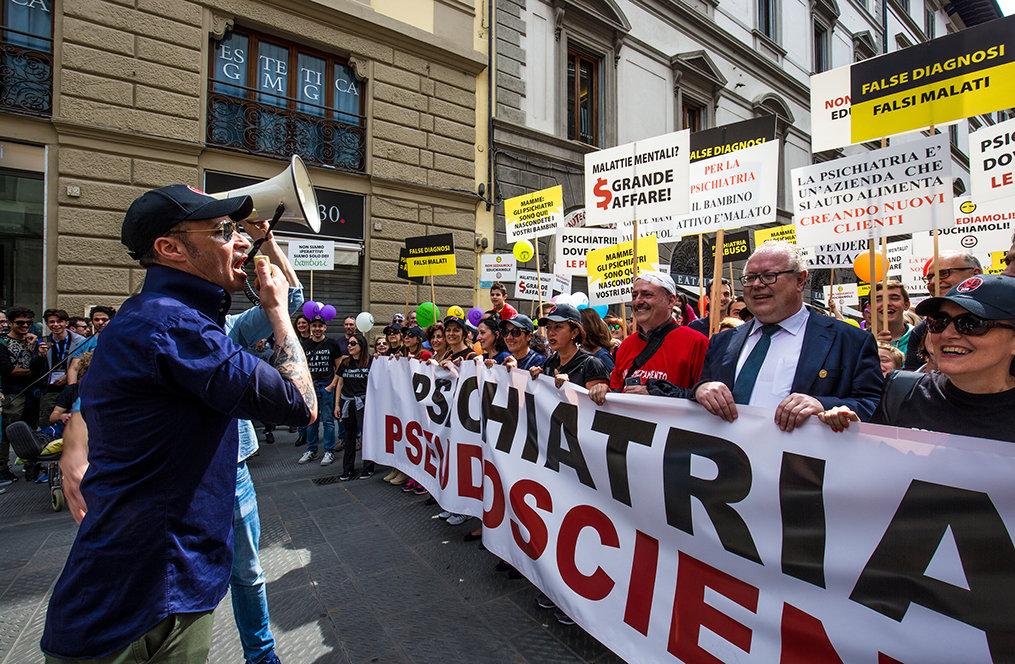 Kundgebung in Italien