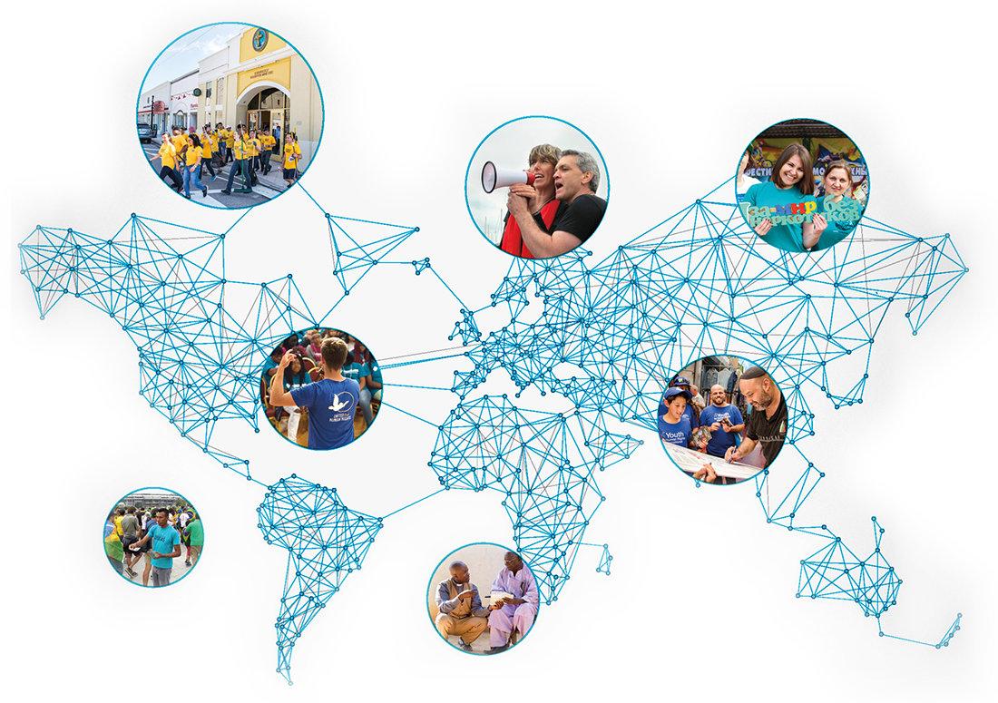 Netzwerk von Freiwilligen