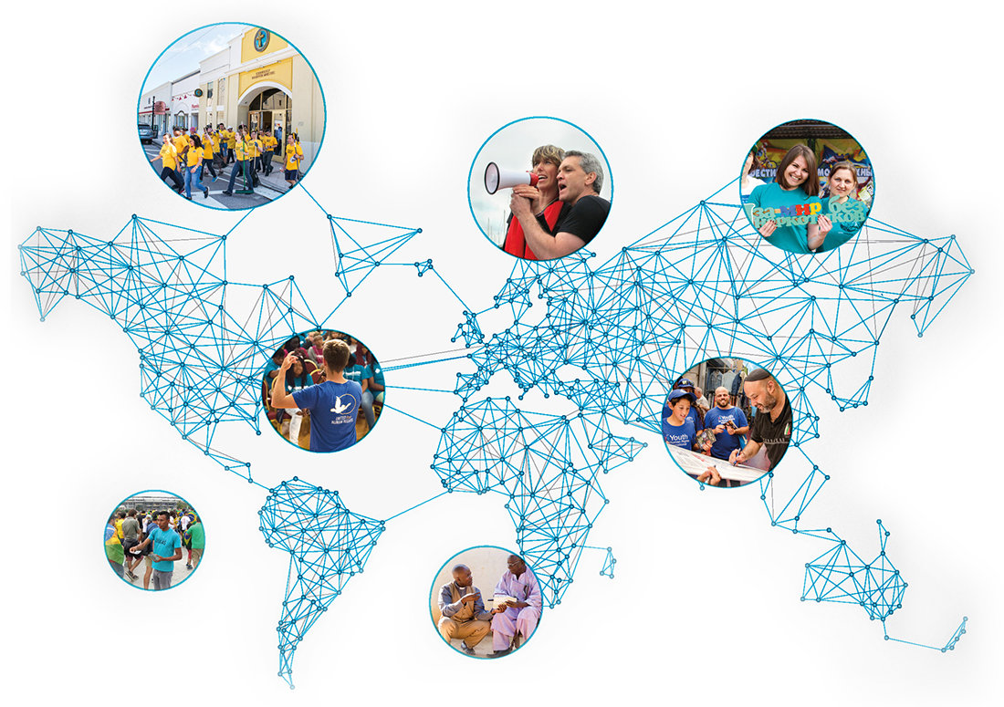 Network of volunteers