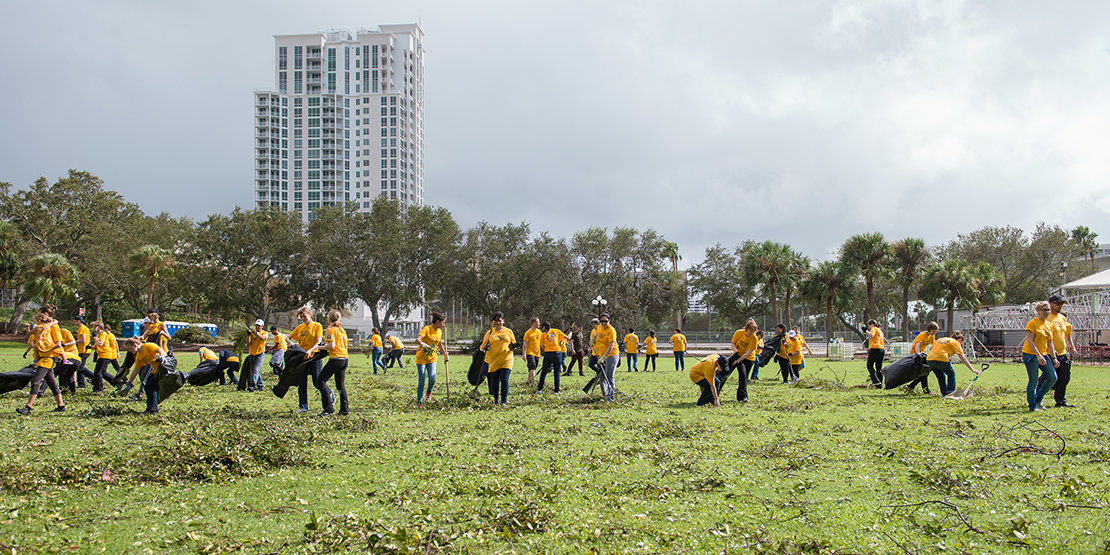 VMs out in force at Coachman Park on September 11