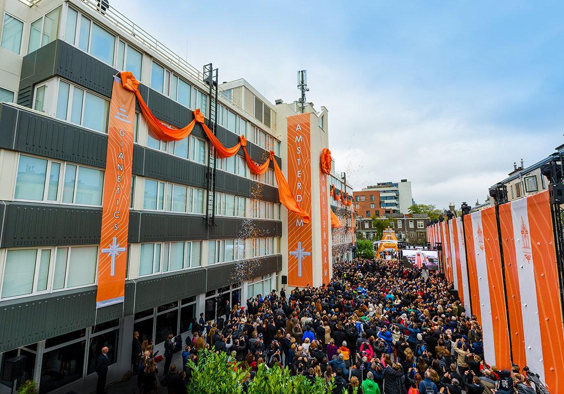 Einweihung der Scientology Kirche in Amsterdam