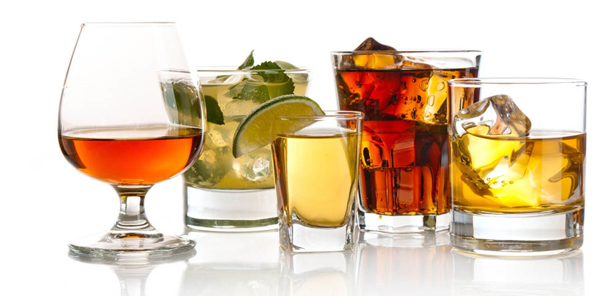various alcoholic drinks that effect ones health