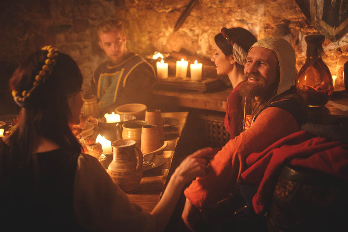 people drinking alcohol in during middle ages
