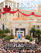 Freedom Magazine. Flag issue cover