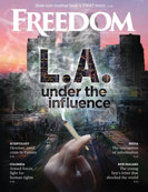 Freedom Magazine. LA Under the Influence issue cover