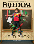 Freedom Magazine. Held Back issue cover