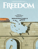 Freedom Magazine. Infrastructure issue cover