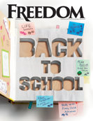 Freedom Magazine. Back to School issue cover