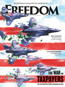 Freedom Magazine. Military Spending issue cover