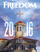 Freedom Magazine. The Year in Review issue cover