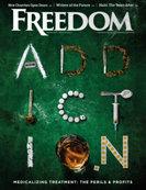 Freedom Magazine. Addiction issue cover